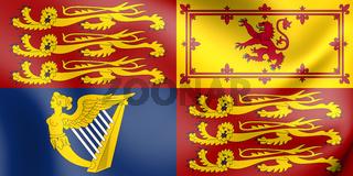 3D Royal Standard of the United Kingdom. 3D Illustration.