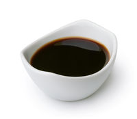 Ceramic dip bowl of soy sauce