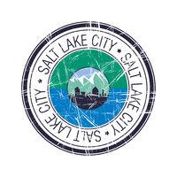 City of Salt Lake City, Utah vector stamp