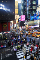 Times Square, featured with Broadway Theaters and huge number of LED signs
