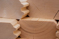 construction wood closeup, wooden house building material