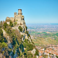 The first tower of San Marino