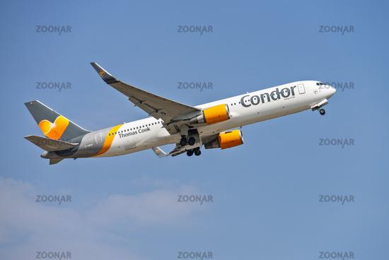 Condor aircraft at takeoff