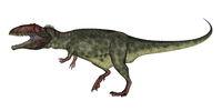 Giganotosaurus dinosaur roaring - 3D render
