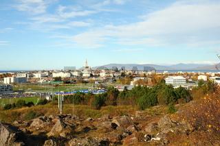 Aussicht auf Reykjavik, Island