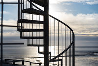 Spiral staircase at the Obereversand lighthouse in Dorum-Neufeld