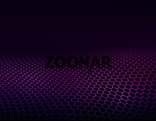 Abstract background with purple and pink grids.