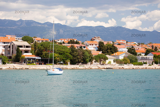 Town of Novalja waterfront view, Pag island