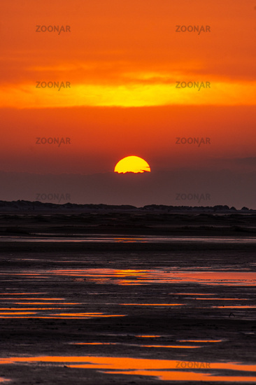 Golden sunset at the seaside