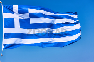 Flag of Greece close-up