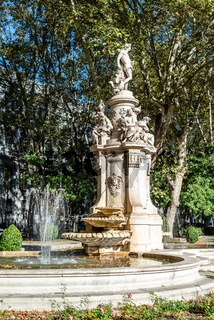 The fountain of Apollo in Prado Boulevard