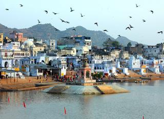 holy lake in Pushkar India
