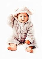 Portrait of little cute baby