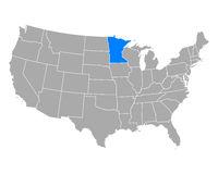 Karte von Minnesota in USA - Map of Minnesota in USA