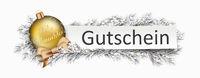 Gutschein Banner Golden Bauble Twigs Christmas