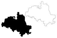 Cibla Municipality (Republic of Latvia, Administrative divisions of Latvia, Municipalities and their territorial units) map vector illustration, scribble sketch Cibla map