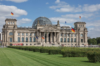 The Reichstags Building in Berlin, Germany. The Headquarter of the German Government