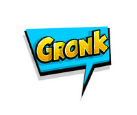 Comic text gronk, grr logo sound effects