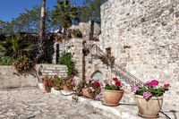 Traditional Mediterranean architectural style in the streets and residential house