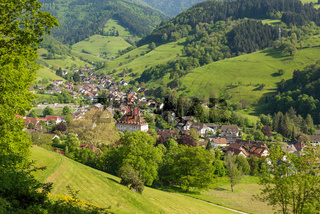 The small village Muenstertal in the Black Forest