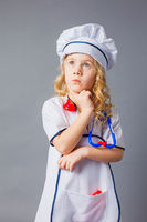 The little girl dream of becoming a doctor