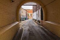 Small road in Carlisle, Cumbria, England