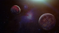 Exoplanets or Extrasolar planets. Elements of this image furnished by NASA