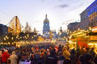 People New Year market Ukraine