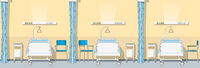 Illustration of a sickroom, seamless