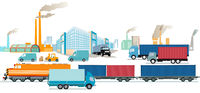 Transport industry, factories and freight, transportation