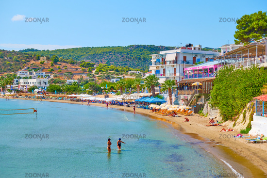 Beach and waterfront in Agia Marina