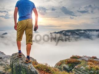 Hiker travel alone