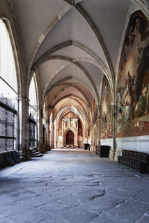 The cloister of Saint Mary Cathedral in Toledo