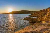 Cape Greco on Cyprus at sunset
