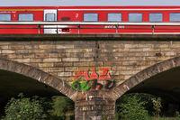 The train on the bridge