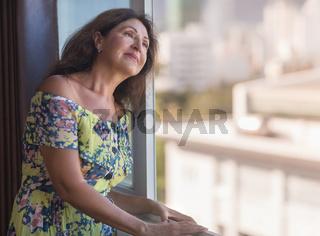 Indoor portrait of a beautiful senior woman