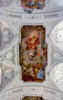 Ceiling painting in the Neumünster Collegiate Church - Roman Catholic Church of St. Kiliansdom