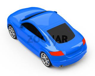 the blue car