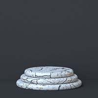 Abstract background three steps white marble stand 3D