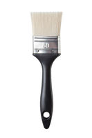 black brush isolated on white