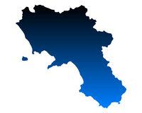 Karte von Kampanien - Map of Campania