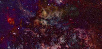 Galaxy cluster. Elements of this image furnished by NASA