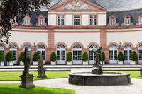 Castle courtyard in Weilburg Castle