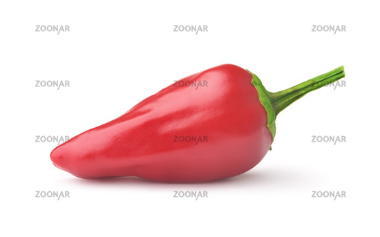 Side view of red jalapeno chili pepper