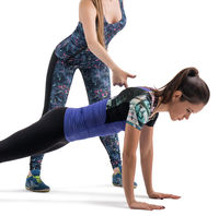 Two girls doing fitness isolated view