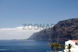 Weisse Häuser in Puerto de Santiago, Los Gigantes, Teneriffa, Kanarische Inseln, Spanien, Europa