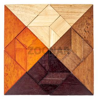 wood tangram square