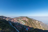 aerial view of lushan mountain