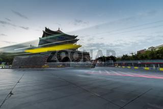 ancient drum tower in zhangye city