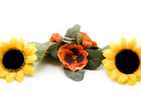 Pansies with sunflower